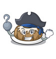 Pirate bundt cake character cartoon vector image