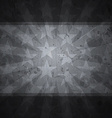 retro stars black background with grunge effect vector image vector image