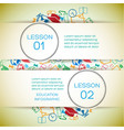 school learning infographic concept vector image vector image