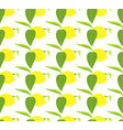 seamless pattern with lemons and leaves on white vector image vector image