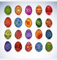 set of easter bright eggs isolated vector image vector image