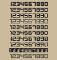 Simple Numerals vector image vector image