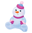 snowman baby vector image vector image