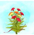 Springtime Colorful Carnation Flower Background vector image