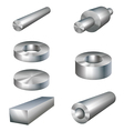 steel products metal parts vector image