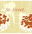 strawberry pie for invitation vector image