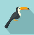 toucan icon flat style vector image vector image