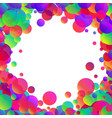 white background with colour bubbles vector image
