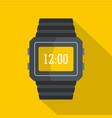 wristwatch icon flat style vector image vector image