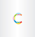 colorful logo letter c logotype c sign icon vector image
