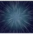 Warp Stars Ray Galaxy Background vector image