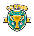 table tennis five-star private club emblem vector image