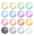 set of blank glossy buttons made of metal of vector image