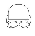 swimming equipment icon vector image