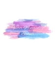 Abstract artistic watercolor banner vector image