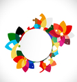 abstract colorful floral shape concept and blank vector image vector image