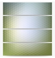 Abstract hexagonal headers set blurred design vector image
