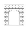 An old brick gate thin line icon vector image vector image