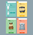 Animal banner with dogs for web design 7 vector image