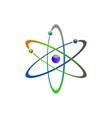 atom icon atom symbols vector image