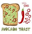 avocado toast vector image