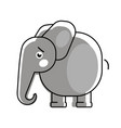 baby elephant with a heart logo for vector image vector image