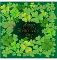 Background with clovers EPS10 vector image vector image