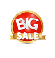 Big Sale Red Gold Label Sticker vector image