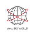 big world icon with arrows on white vector image vector image
