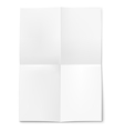 Blank sheet of paper folded in four vector image vector image