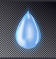 blue water drop vector image vector image
