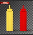 bottles of ketchup and mustard vector image vector image