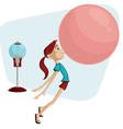 bubblegum girl cartoon vector image vector image
