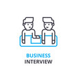 business interview concept outline icon linear vector image vector image