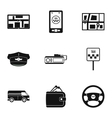 Call taxi icons set simple style vector image vector image