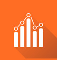 chart graph icon with long shadow business flat vector image vector image
