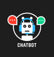 chatbot icon like hotline service vector image vector image
