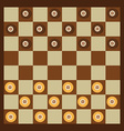 Checkers game vector image vector image