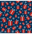 Christmas seamless pattern with gifts snowflakes vector image vector image