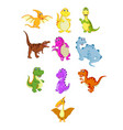 collection of the little dinosaur vector image