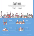 country india travel vacation guide vector image vector image