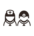 Doctor icons vector image vector image