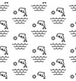 dolphin ocean sea sun pattern seamless vector image vector image