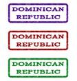dominican republic watermark stamp vector image vector image