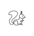 Doodle squirrel animal icon vector image vector image