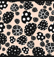 dots with black and white texture on pink seamless vector image
