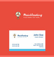 fan logo design with business card template vector image