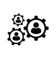 gear icon settings or options vector image