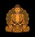golden buddha statue design vector image vector image