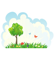 Green tree background vector image vector image